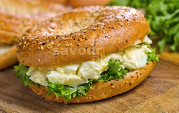 Bagel with Egg Salad