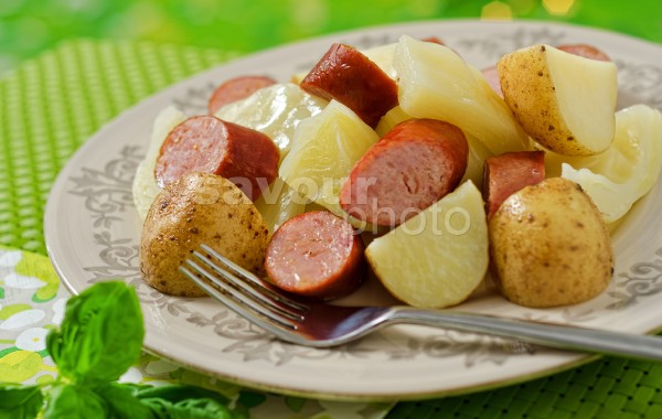 Boiled Dinner with Smoked Sausage