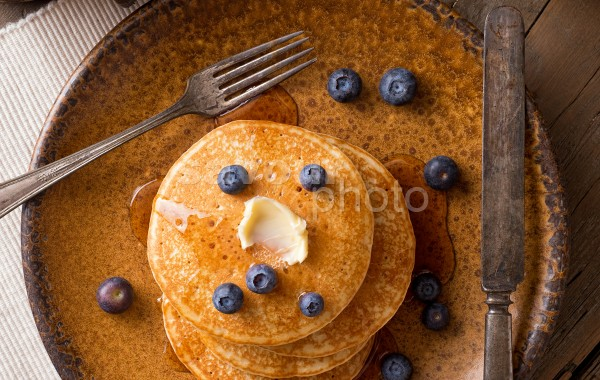 Blueberry Pancakes (vertical)