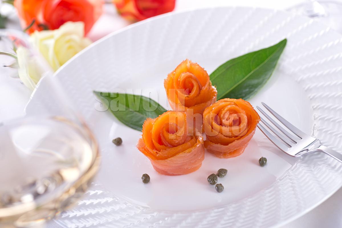 Smoked Salmon Roses