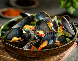 Asian Style Mussels
