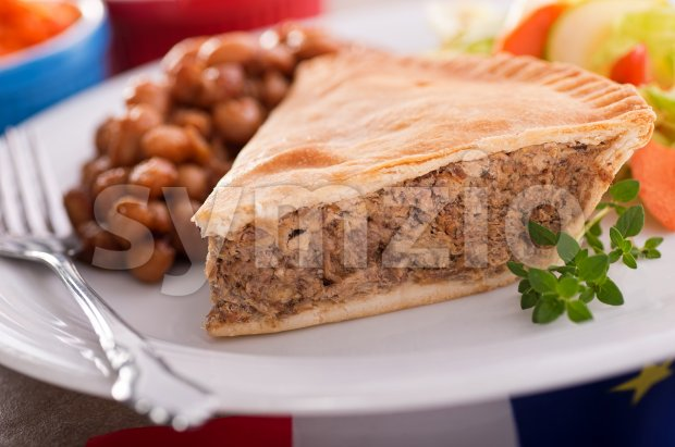 Meat Pie Stock Photo