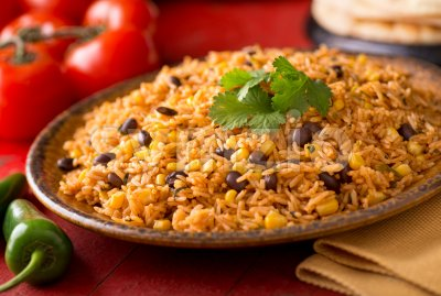 Mexican Rice Stock Photo