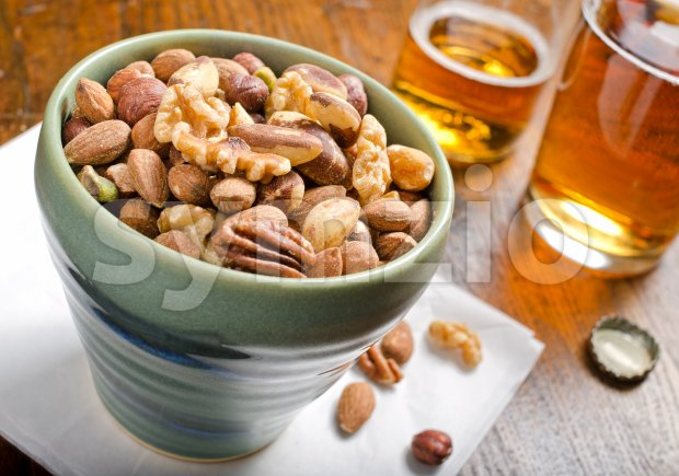 Mixed Nuts Stock Photo