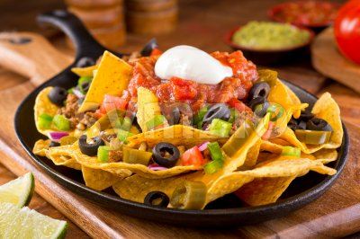 Nachos Supreme Stock Photo