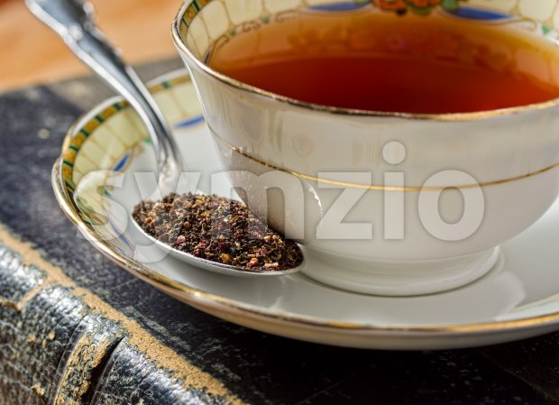 A cup of traditional old english tea.