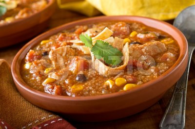 Chicken Tortilla Soup Stock Photo