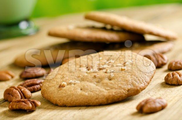 Pecan Cookies Stock Photo