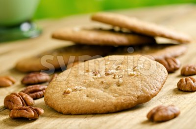 Pecan Cookies Stock Photo