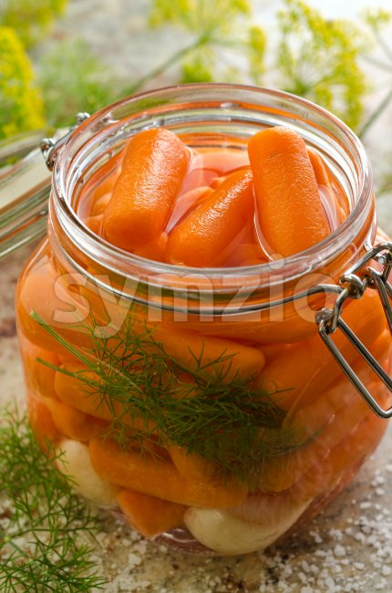 Pickled Carrots Stock Photo