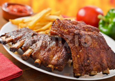 Pork Baby Back Ribs Stock Photo