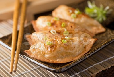 Pot Stickers Stock Photo