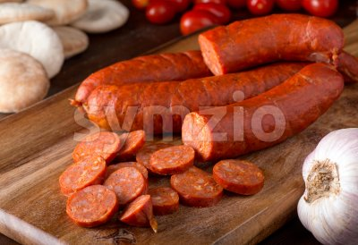 Merguez Sausage Stock Photo