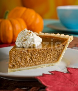Pumpkin Pie Stock Photo