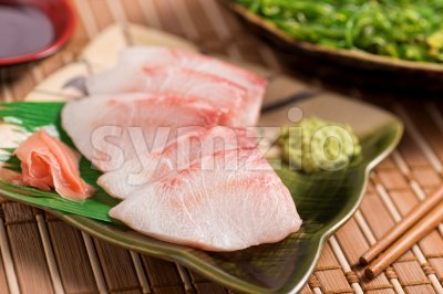 White Fish Sashimi Stock Photo
