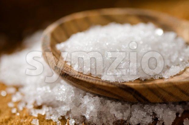 Sea Salt - Fleur De Sel Stock Photo