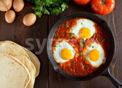 Shakshuka Stock Photo