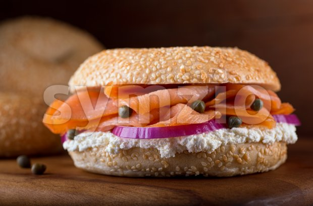 Lox and Bagel Stock Photo