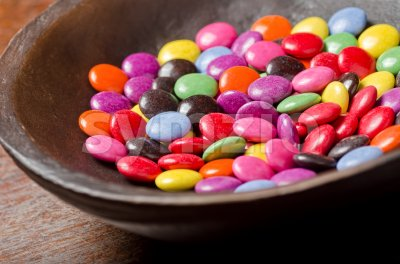 Candy Coated Chocolates Stock Photo