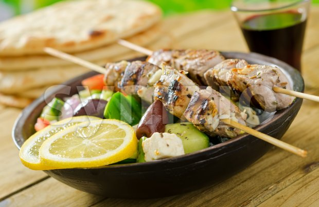 Souvlaki Stock Photo