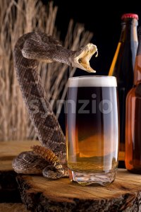 Snakebite Cocktail Stock Photo