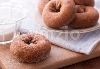 Sugar Donuts Stock Photo