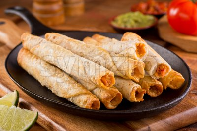 Taquitos Stock Photo