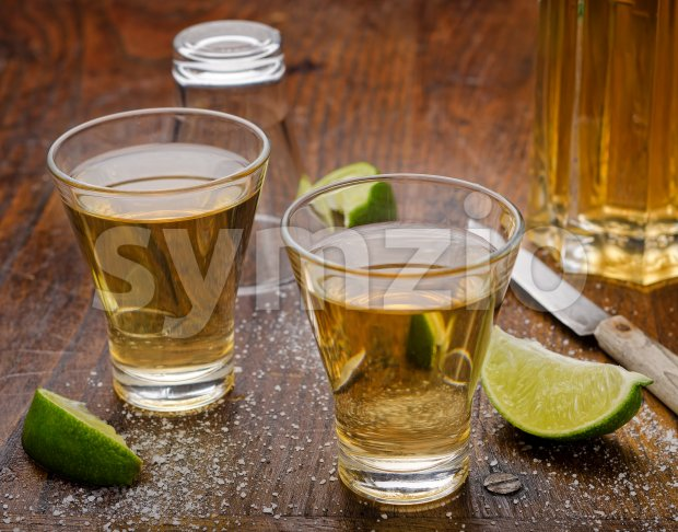 Tequila Shots Stock Photo