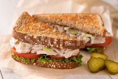 Chunky Tuna Salad Sandwich Stock Photo