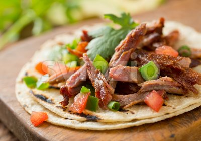 Pork Taco Stock Photo