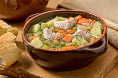 Turkey Soup Stock Photo