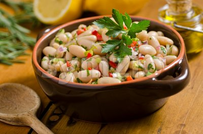 White Bean Cannellini Salad Stock Photo