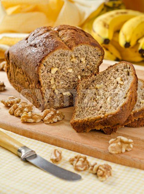 Bananan Nut Loaf Stock Photo