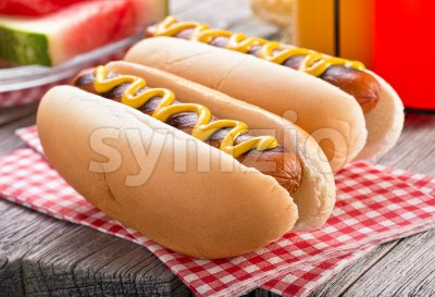 Barbecue Hot Dogs Stock Photo