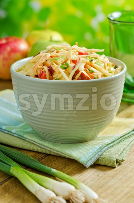 Apple Coleslaw Stock Photo