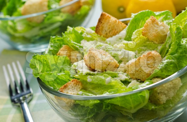 Caesar Salad Stock Photo
