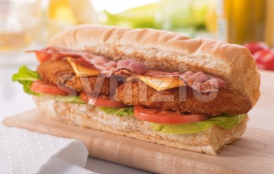 Chicken Clubhouse Sub Stock Photo