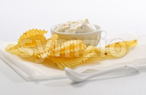 Chips and Dip Stock Photo