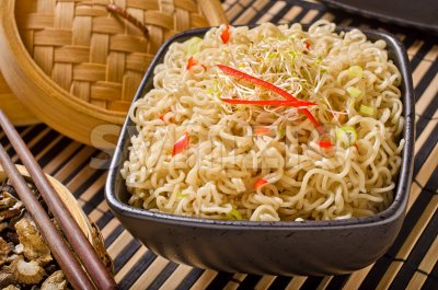 Ramin Noodles Stock Photo