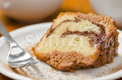 Cinnamon Swirl Cake Stock Photo