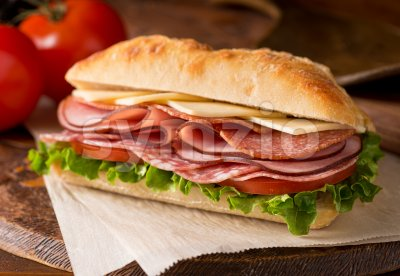 Cold Cuts Sandwich Stock Photo