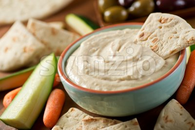 Baba Ganoush Stock Photo