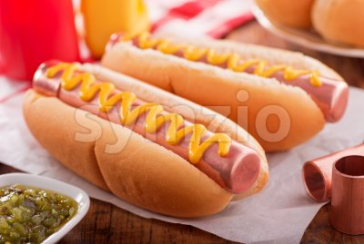Copper Hot Dogs Stock Photo