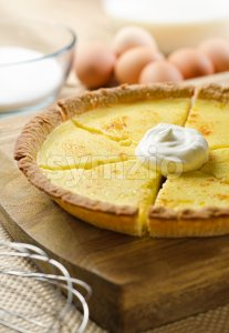 Custard Pie Stock Photo