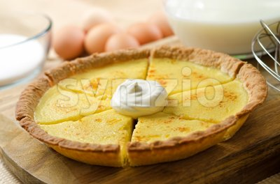 Custard Pie Stock Photo
