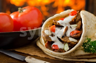 Gyro Donair Stock Photo