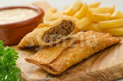 Donair Egg Rolls Stock Photo