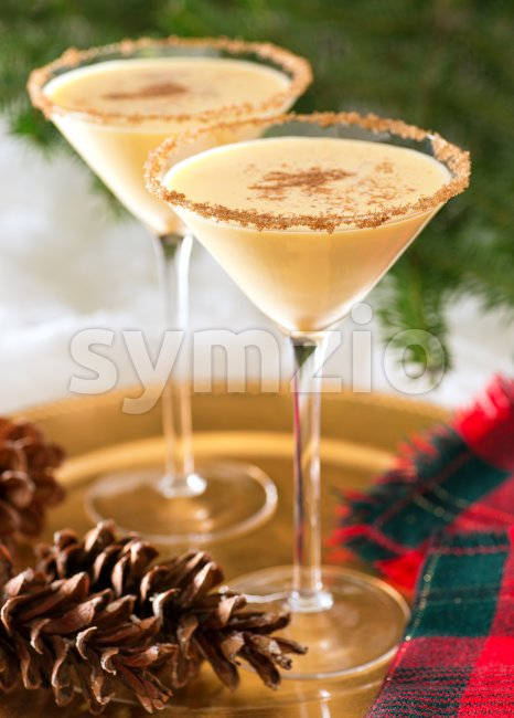 Eggnog Martini Stock Photo