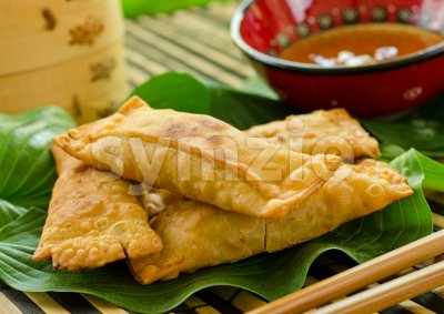 Eggrolls Stock Photo
