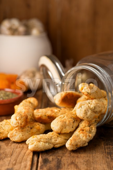 Garlic Cheese Bread Sticks Stock Photo